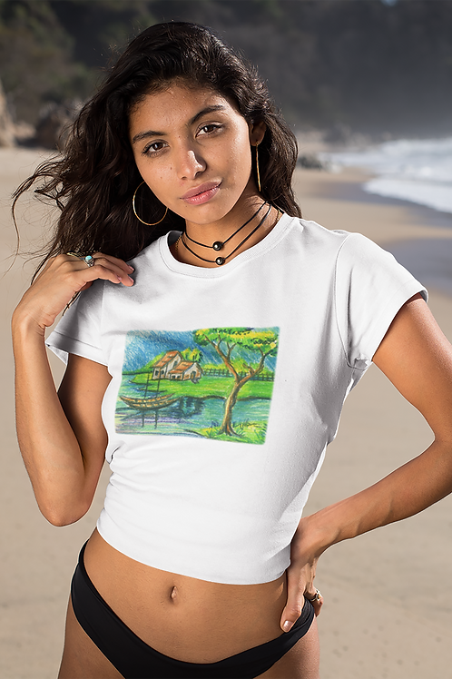 Tranquility - Women's Organic Fitted T-shirt