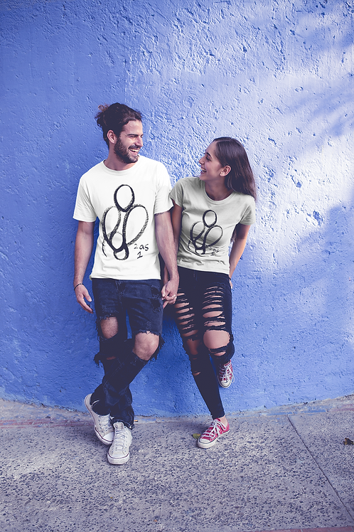 2 as 1 - Oracle Girl - Unisex Organic Slim Fit Cotton T-Shirt