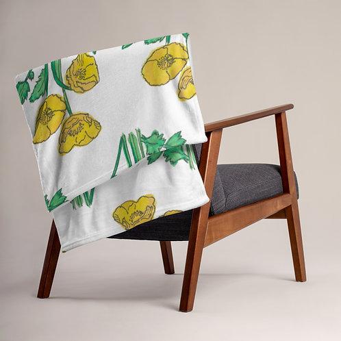 Yellow poppies - Ethical Throw Blanket