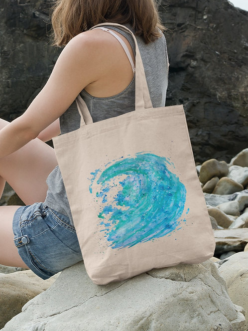 Waves - Organic Tote Bag