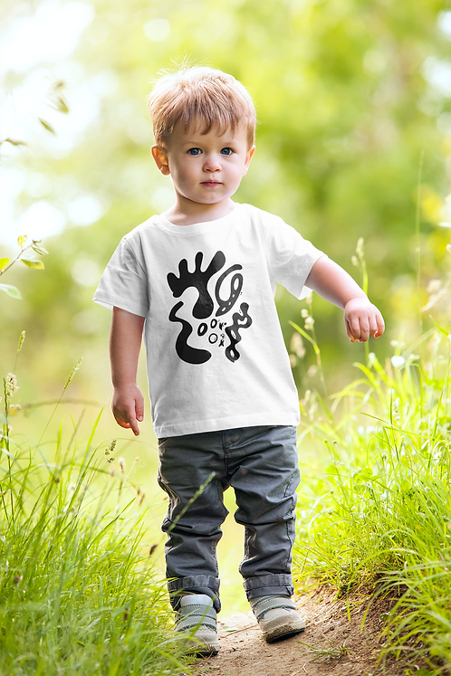 Gold and togetherness - Oracle Girl - Toddler Ethical Short Sleeve Tee