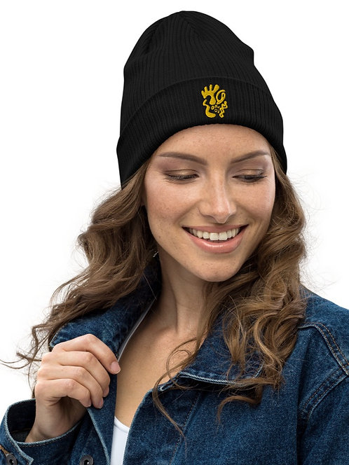 Gold and togetherness - Oracle Girl - Organic ribbed beanie