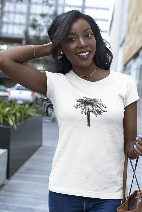 Echinacea - Women's fitted organic cotton tee