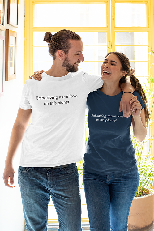 Embodying more love on this planet - Oracle Girl - Unisex organic cotton t-shirt