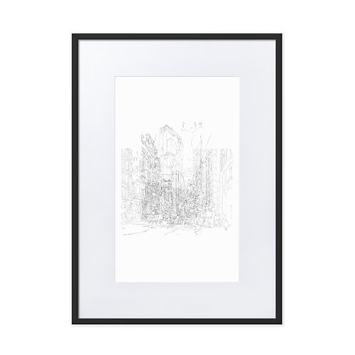 Bishopsgate - Matte Paper Framed Poster with mount