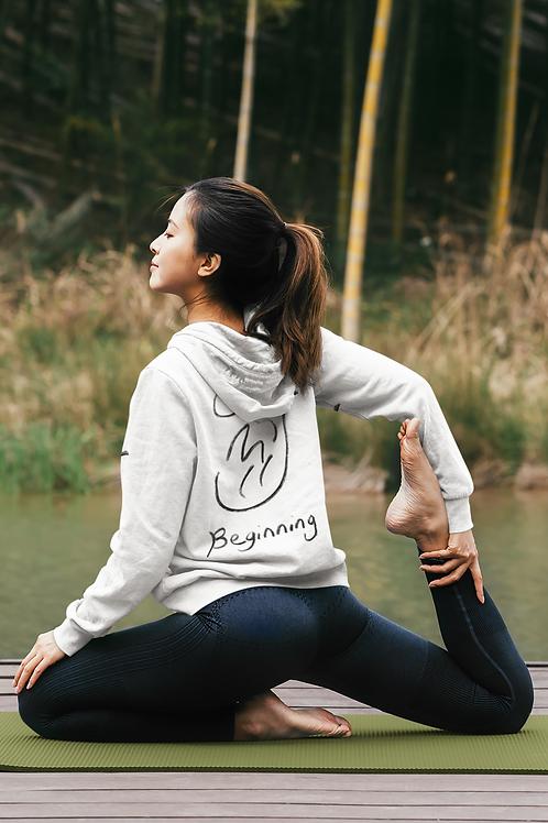 Beginning - Oracle Girl - Unisex organic eco pullover hoodie