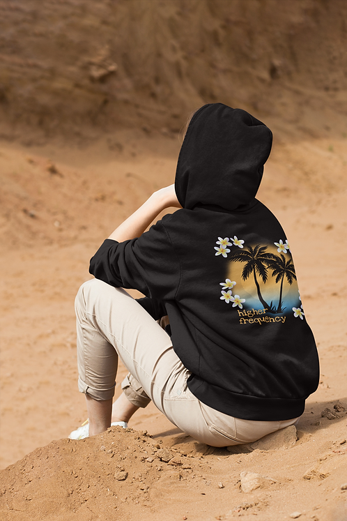 Higher frequency - Ethical unisex lightweight full zip hoodie