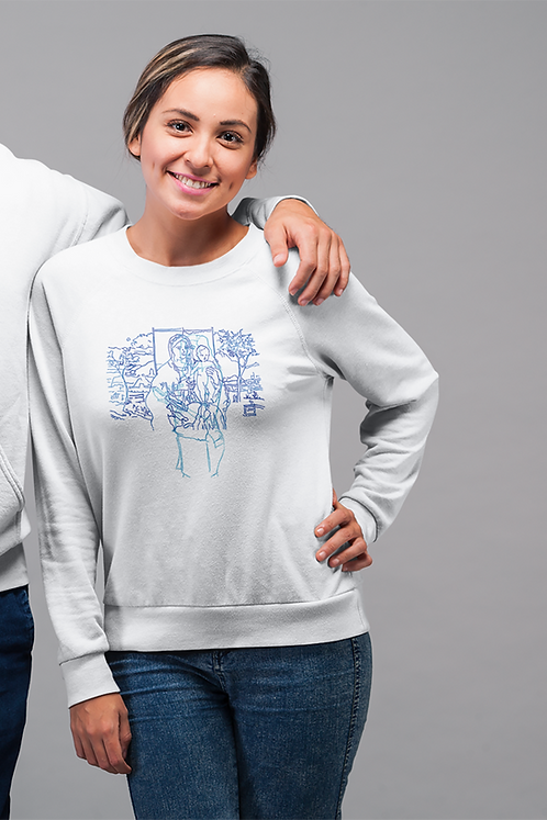 The Madonna and Child in the Garden - Women's Organic Rise Sweatshirt