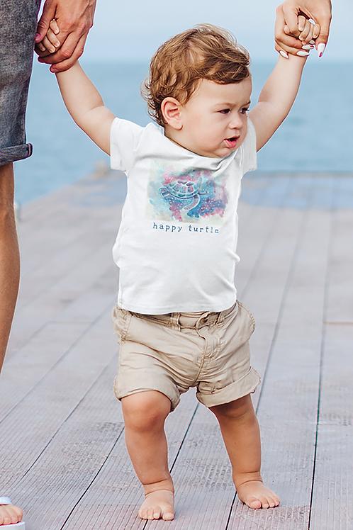 Happy turtle - Infant Fine Jersey Tee