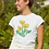 Thumbnail: Yellow poppies - Women's fitted organic cotton tee