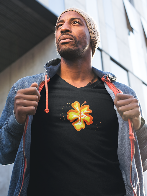 Hibiscus - Unisex recycled t-shirt