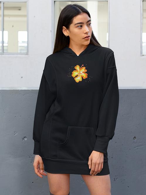 Hibiscus - Eco hoodie dress