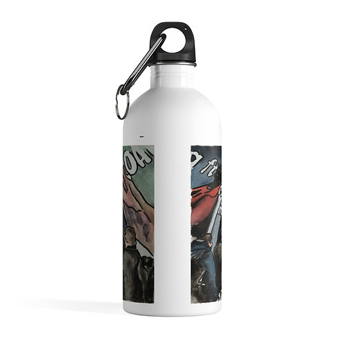 Waterloo & City I - White Stainless Steel Water Bottle