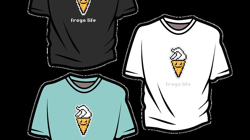 Froyo Life Digital Ice Cream Unisex Heavy Cotton Tee