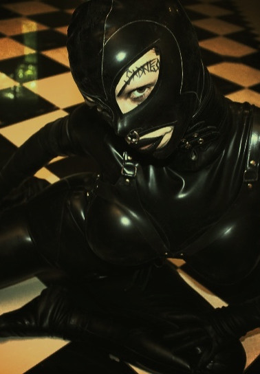 Rubber Bathroom, DeMasK Rubber outfit.