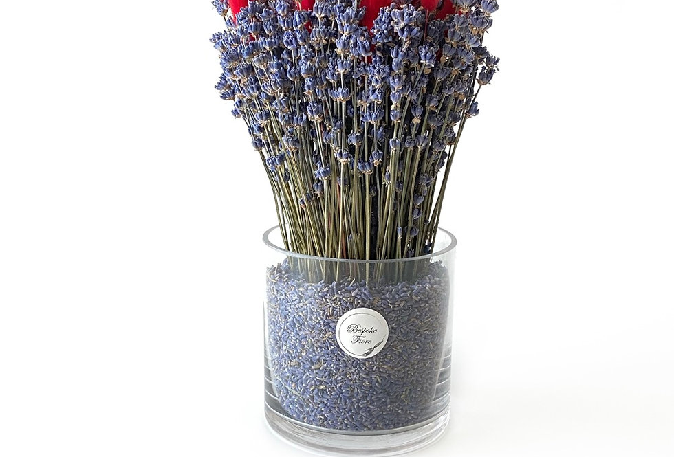 Dried Lavender with Red Bunny tail