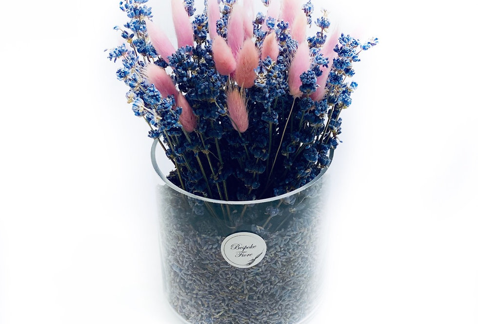 Dried Lavender with Pink Bunny Tail