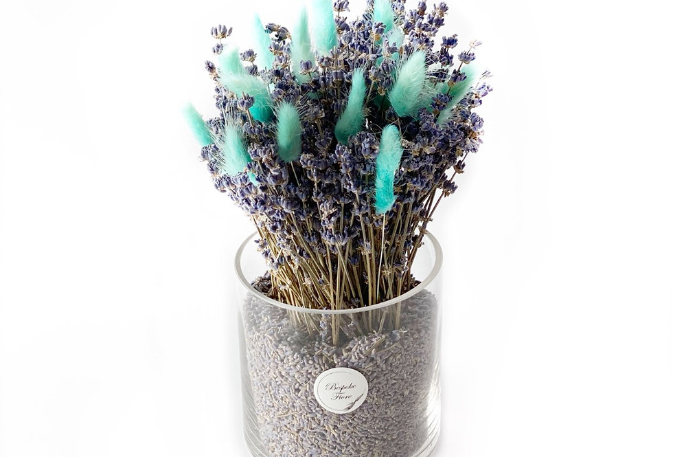 Dried Lavender with Fluffy Green Bunny Tail