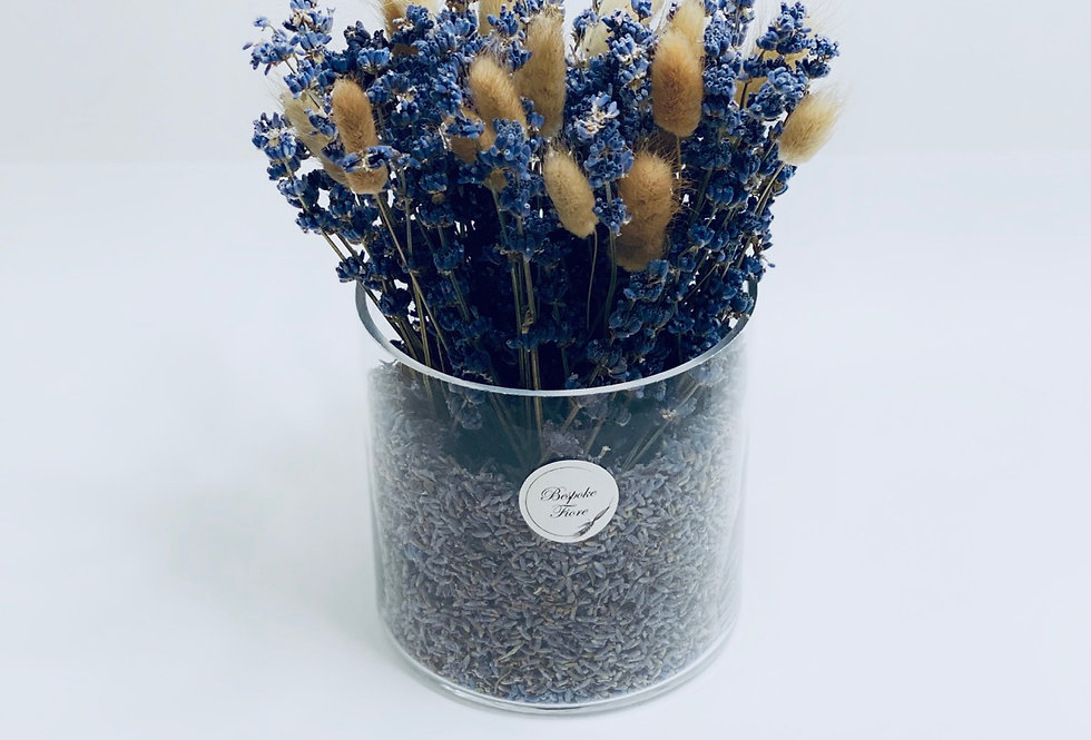 Dried Lavender with Brown Rabbit's tails