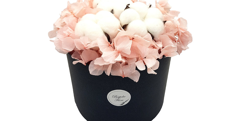 Pink Hydrangea with Cotton