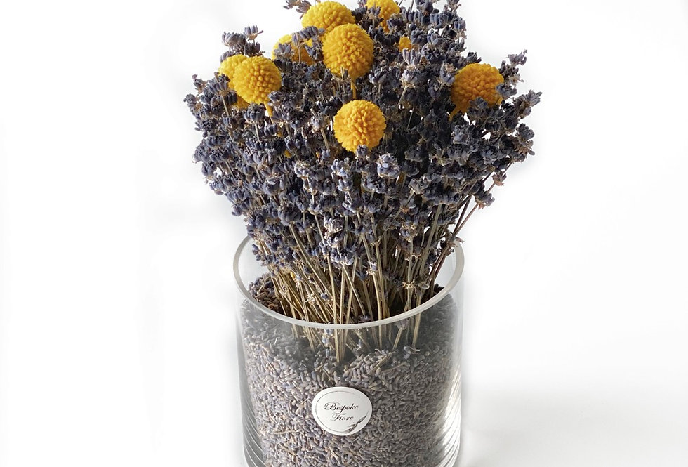 Dried Lavender with Billy Button