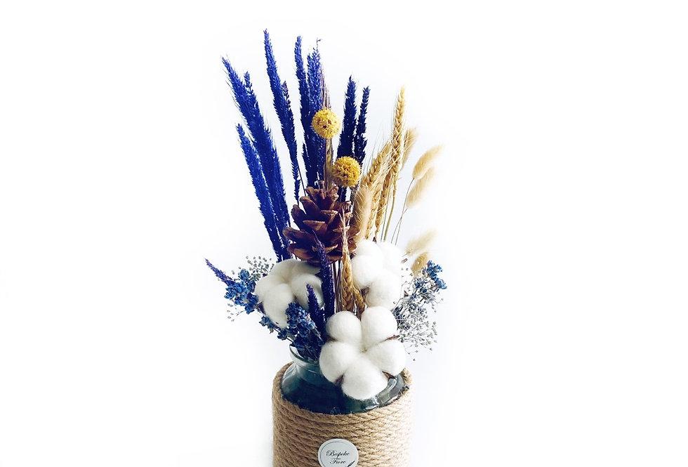 Rustic Cotton Flower Arrangement