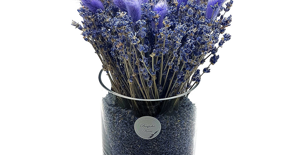 Dried Lavender with Purple Bunny Tail