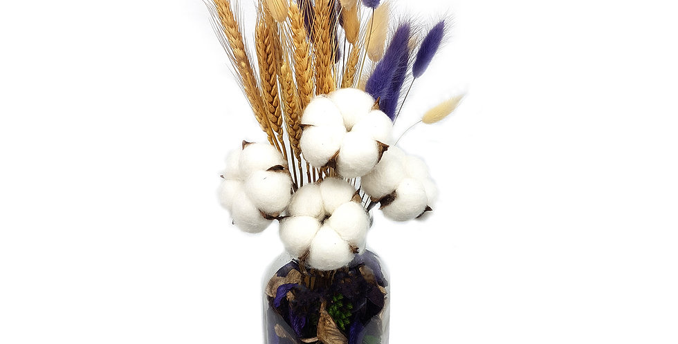 Preserved Cotton Potpourri Floral Arrangement