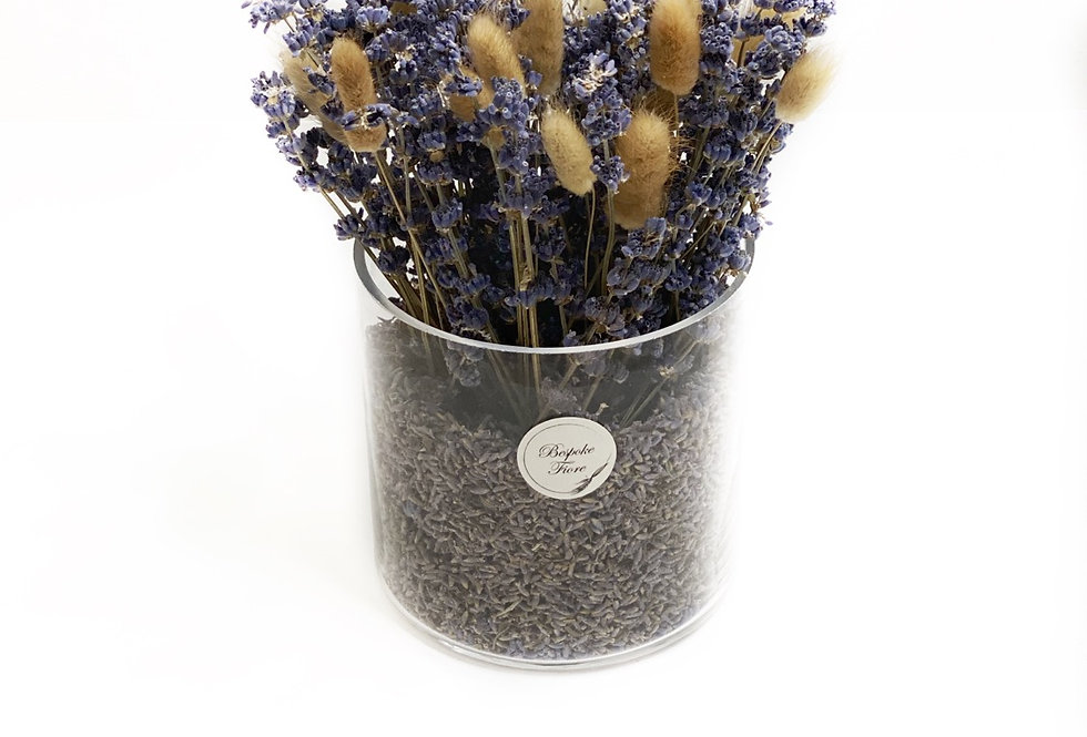 Dried Lavender with Brown Bunny tail