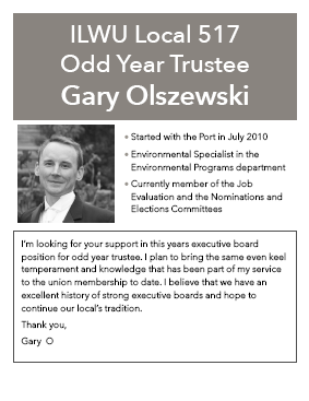 Gary Olszewski for Odd-Year Trustee