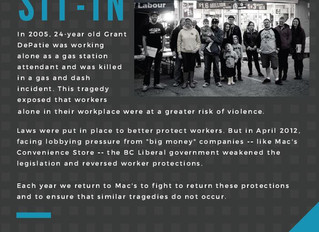 Grant's Law Sit-In on April 8th