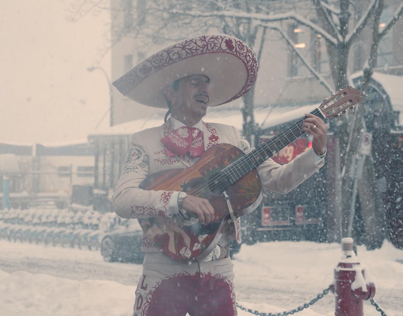 Mariachi in the Snow