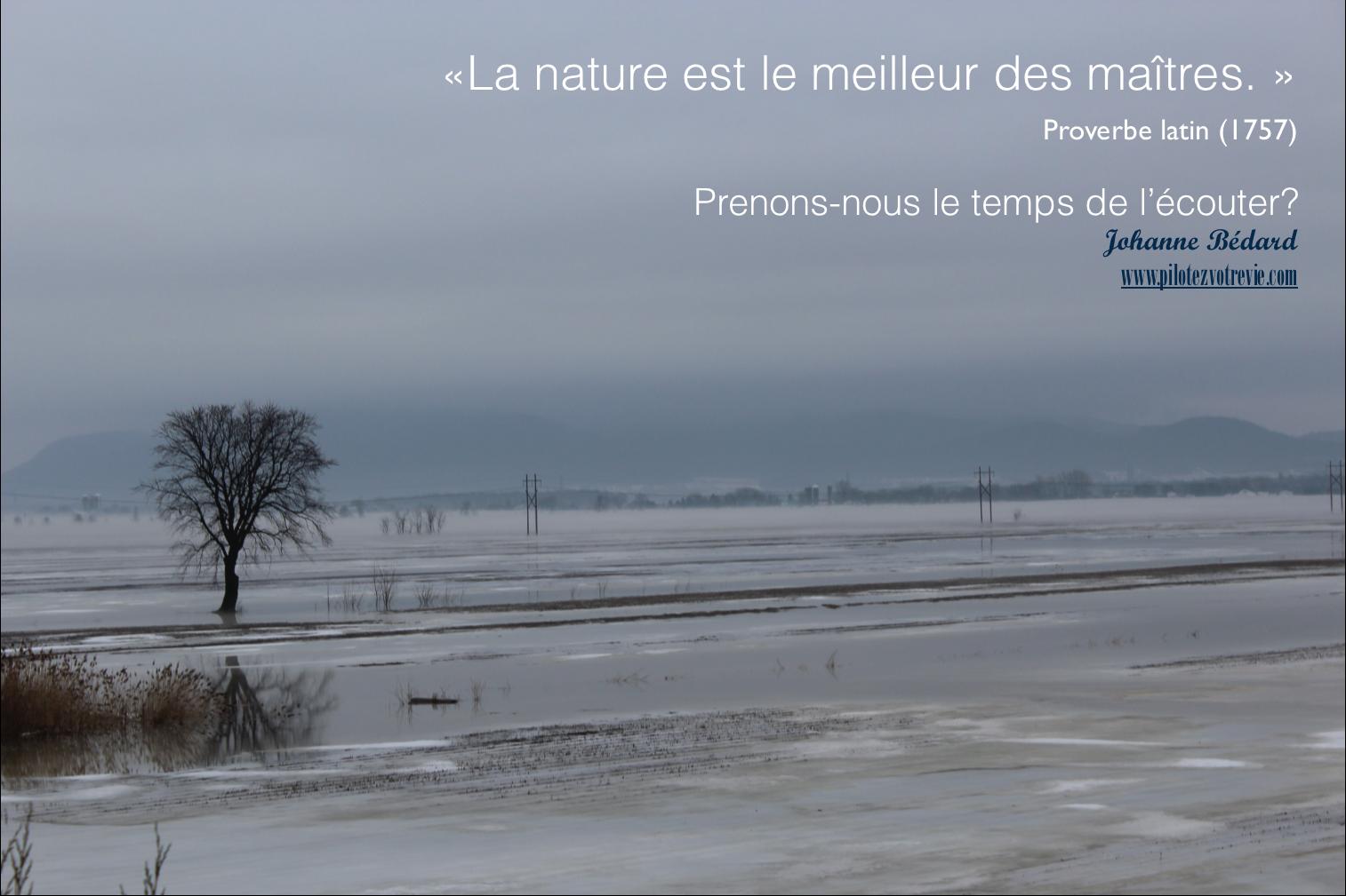 La nature: notre maître
