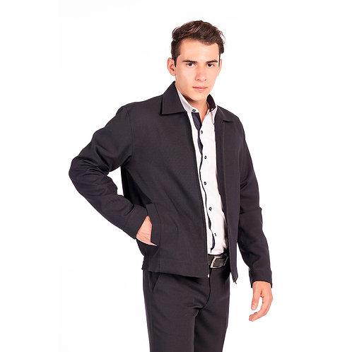 Jaqueta Masculina com Elástico e Bolso