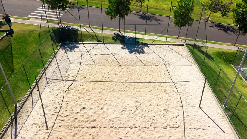 Quadra de vôlei de areia