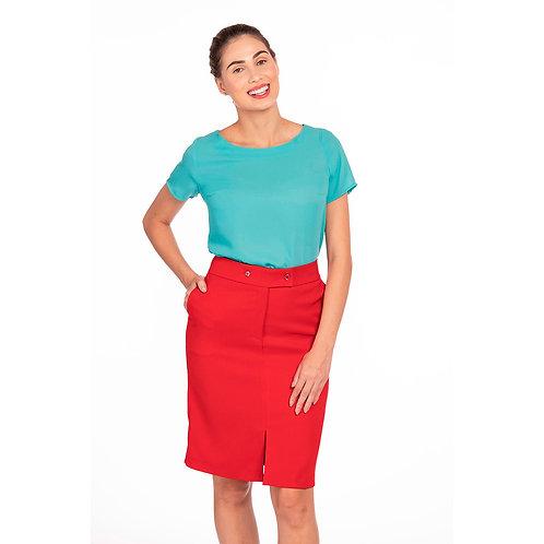 Blusa Básica, Tecido Fluido Modelagem Solta
