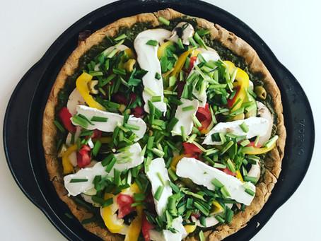 Pizza santé croute à la patate douce