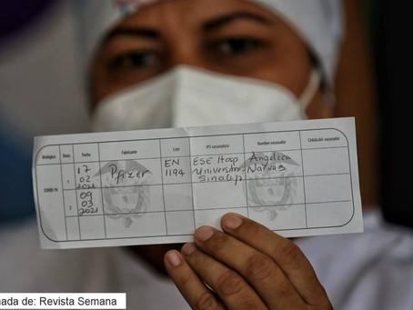 Verónica Machado, primera vacunada contra el Covid-19 en Colombia