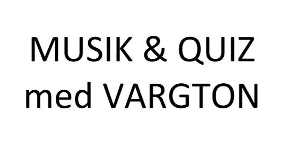 Livemusik och quiz med Vargton