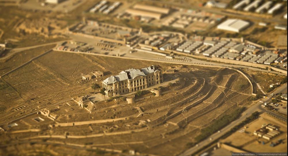Дворец Амина, вид с высоты птичьего полёта