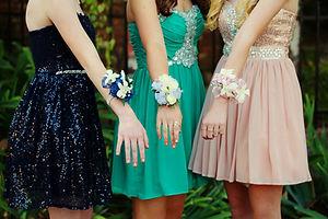 Girls Dressed for School Dance