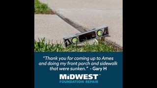 Midwest Concrete Testimonial Social Ad design