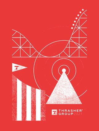 Thrasher Group Company Meeting Shirt Design