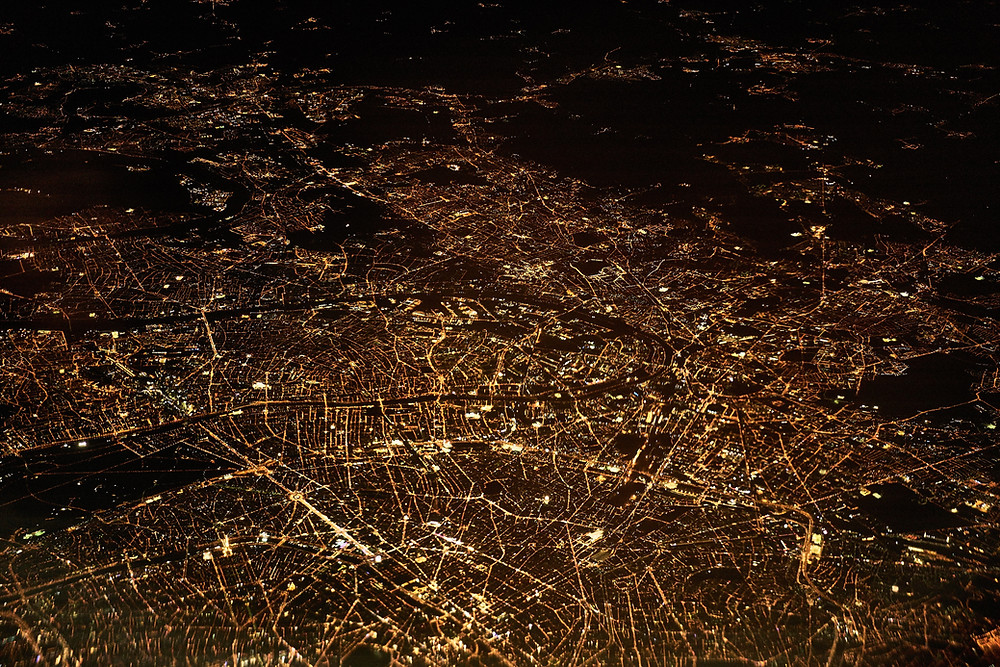 Over Paris at Night - An Amazon Account is Like a Great City