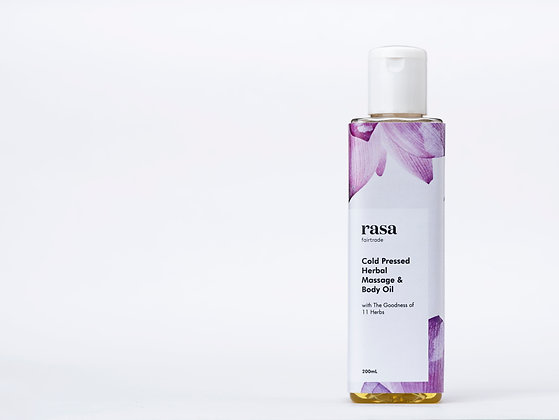 Cold Pressed Herbal Massage & Body Oil-200ml