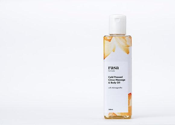 Cold Pressed Citrus Massage & Body Oil-200ml