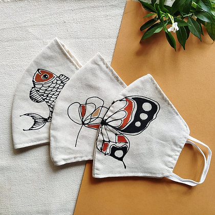 Hand-painted Mask (set of 3)