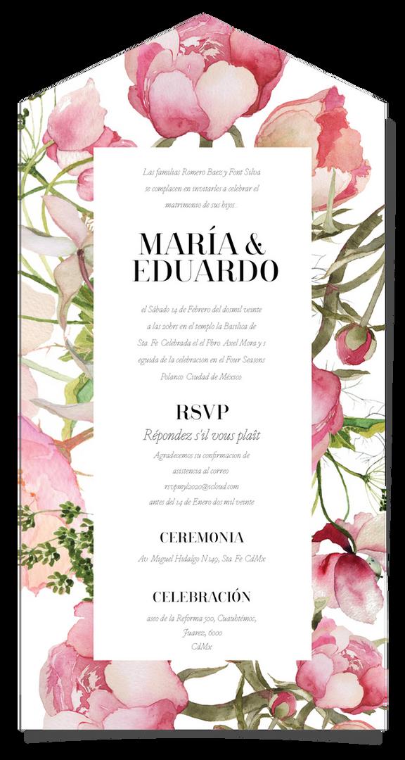 MARIA Y EDUARDO -01 INVITACIONES DE BODA