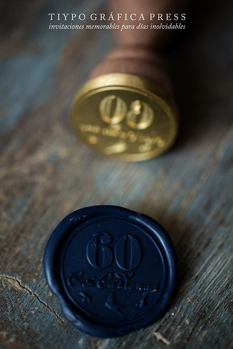 luxury wedding invtes wax seal