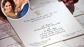 Royal wedding invitaitons